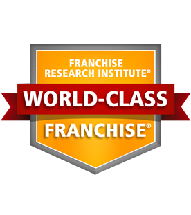 Logo for the Ranked a World-class Franchise award